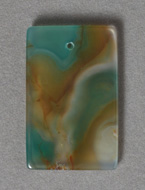 Multi colored agate rectangle pendant bead.