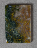 Moss agate rectangle pendant bead