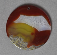 51mm round pendant bead from sardonyx agate