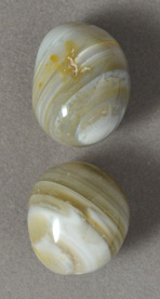 Two Botswana agate nugget beads.