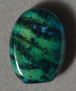 Chrysocolla 24mm flat oval bead.
