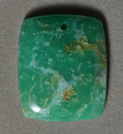 Chrysoprase rectangle pendant bead.