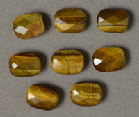 Tiger eye faceted oval beads.