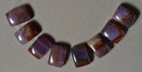 Natural purple agate beads.