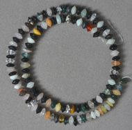 6 x 4mm rondelles from mixed gemstone varieties.