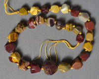 Mookaite freeform faceted nugget beads.