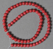 Berry red color glass round beads