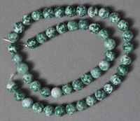 Green tree agate 8mm round beads.
