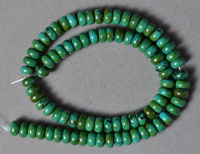 Turquoise 8x5mm rondelle beads.