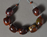 Several large barrel beads from Mexican jasper.
