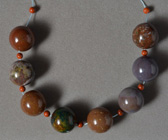 Multi color agate round beads.
