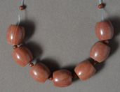 Large barrel beads from red jasper.