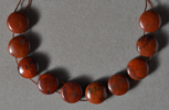 Red stone canyon jasper coin beads.