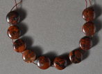 Darker Red Stone Canyon jasper coin beads.