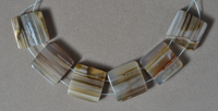 Mexican agate rectangle pendant beads.