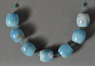 Large barrel beads from amazonite.
