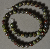 8mm bloodstone round beads.