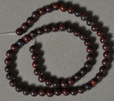 6.5mm red bloodstone jasper round beads.