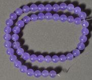 8mm purple quartz round beads.