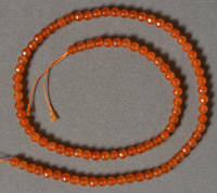 4mm topaz faceted round beads.