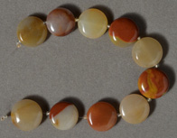 Large agate disc beads.