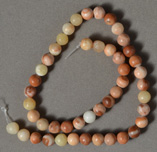 Tan and brown jasper round beads.