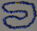 Lapis chip bead necklace.