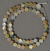 Mother of pearl small coin beads.