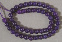 Purple ruby faceted beads