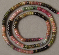 Small tourmaline rondelle beads