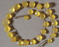 Faceted gold chalcedony