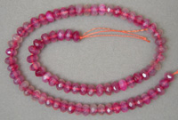 Rondelle beads from lighter purple agate.