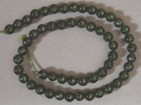 Jade faceted round beads