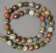 Faceted Picasso jasper beads
