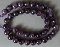 Round beads from Russican amethyst.