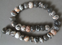 Red zebra jasper large rondelle beads.