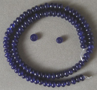 Sapphire rondelle beads