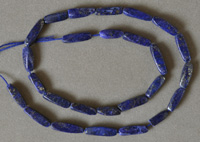 Twist beads from lapis lazuli with pyrite.