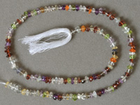 Rondelle beads from several gemstones.