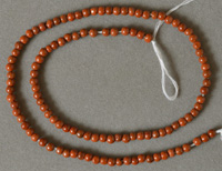 Small round beads from red jasper.