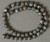 Round beads from crinoid fossil.