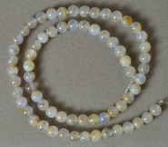 6mm round beads from light blue chalcedony.