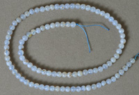 4mm round beads from blue chalcedony.