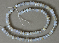 Blue chalcedony rondelle beads