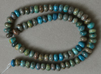8mm rondelle beads from rainbow calsilica.