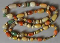 33 inch necklace from agate beggars beads.