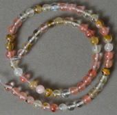 Round beads from several tourmaline shades.