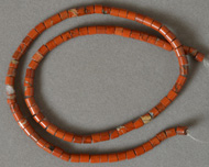 Small tube beads from red Jasper.