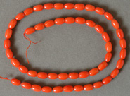 8mm barrel beads from red sea coral.