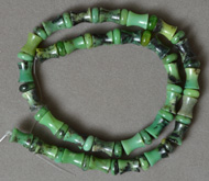 Blue green Spool beads from Australian chrysoprase.